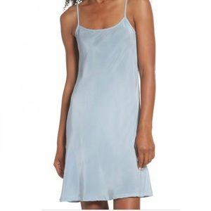 LACAUSA DUSTY BLUE SLIP DRESS - NWT!